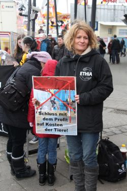 Tierrechtsaktivisten auf dem Hamburger Dom