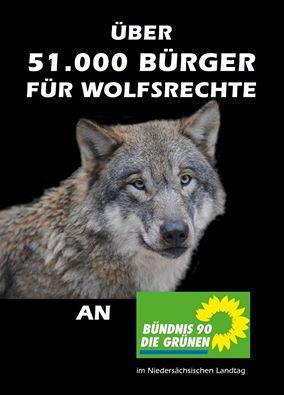 Über 51.000 Bürger für Wolfsrechte
